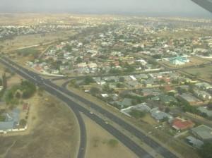 Vista aérea de Windhoek