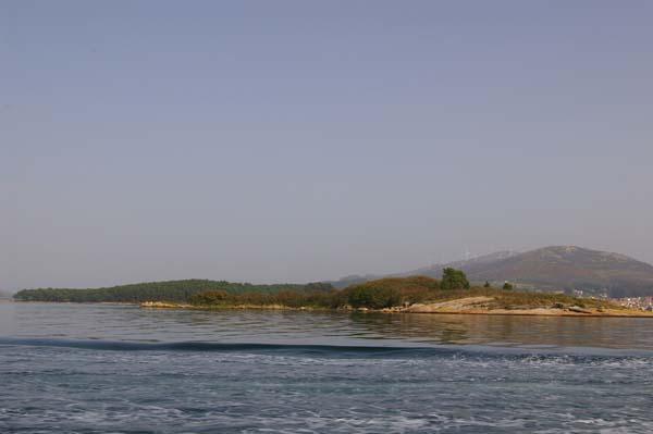 Vista general del archipiélago de Cortegada