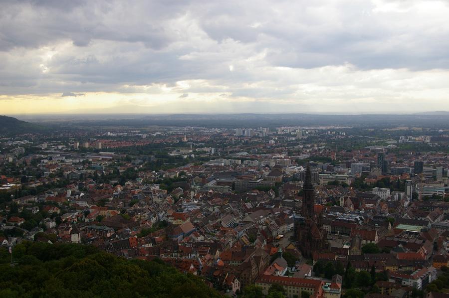 Vista del centro de Freiburg
