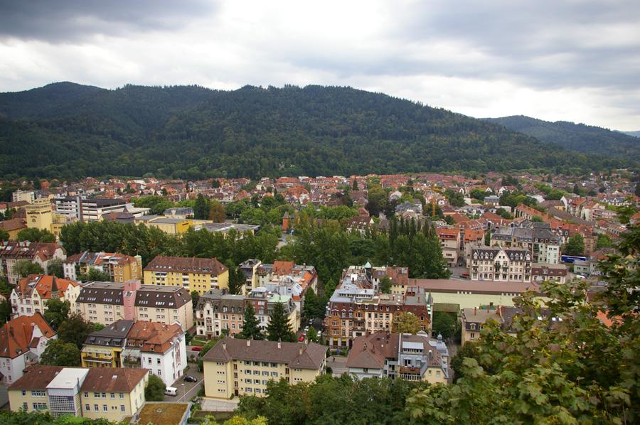 Como se puede ver, hay un gran número de árboles entre los edificios de Freiburg