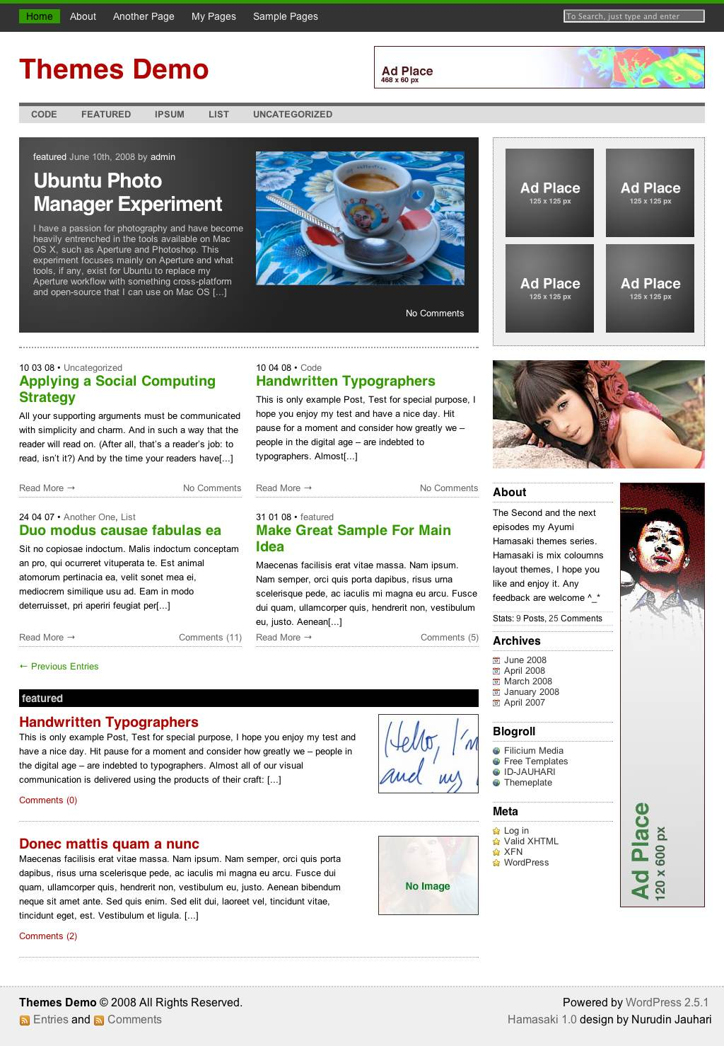 thesis theme threaded comments Examples of customizing thesis theme, a premium wordpress theme that has many user options which lend themselves to customization by graphic designers or bloggers.