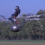 Primer vuelo tripulado con un multicopter