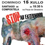 Asesinos de lobos en el Barbanza (XXVII): Manifestación en Santiago