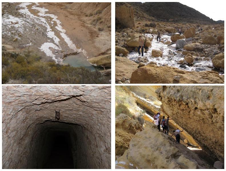 Atravesamos pozas, grutas, fallas...
