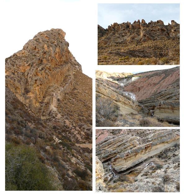Rambla salada es una ruta geológicamente muy interesante.