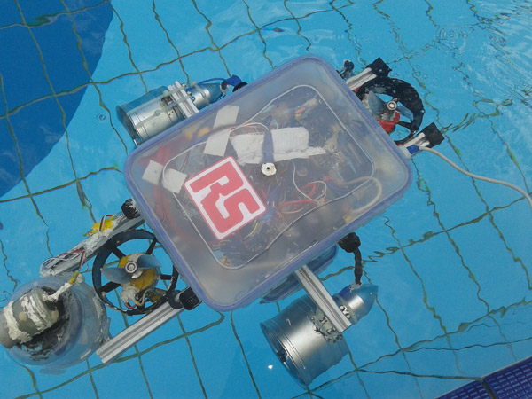 Robot subacuático por 16 dólares
