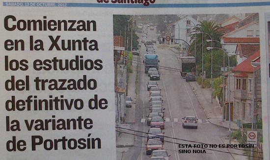supuestos atascos en Portosín