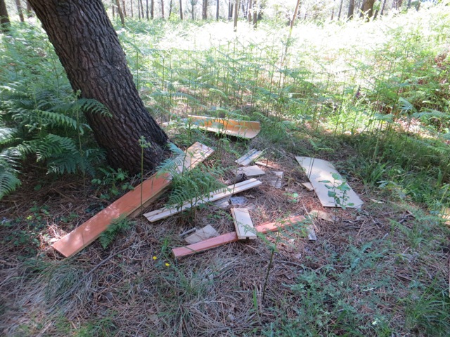 Restos de un mueble de madera