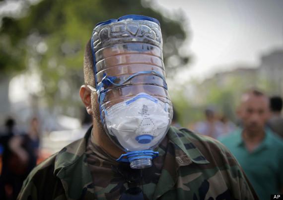 Mascara de gas reciclada