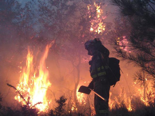 La ardua lucha contra el fuego