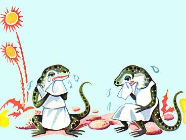 El lagarto esta Llorrando
