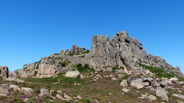 Monte Pindo - Formacion granitica y matorral