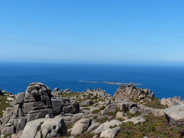 Monte Pindo vistas al océano Atlántico