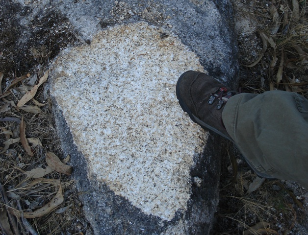 Referencia de tamaño con la bota de montaña