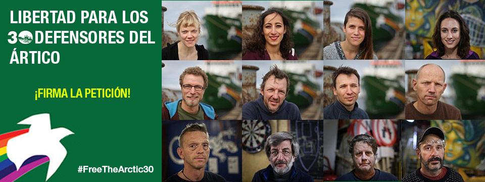 Petición a favor de los defensores del Ártico