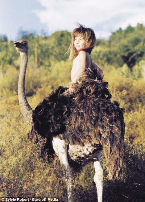 Tippi y una avestruz