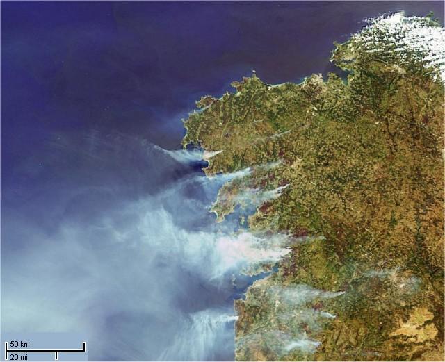 Esta es la triste imagen de Galicia un verano cualquiera