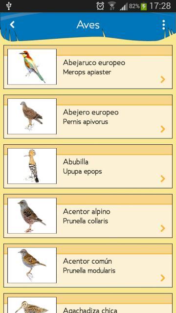 La guía cuenta con una larga lista de especies
