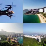 Drone en Hong Kong que entrega un chocolate a 10 km