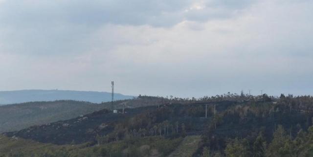 Quema descontrolada de la Xunta en Escabia - Barbanza